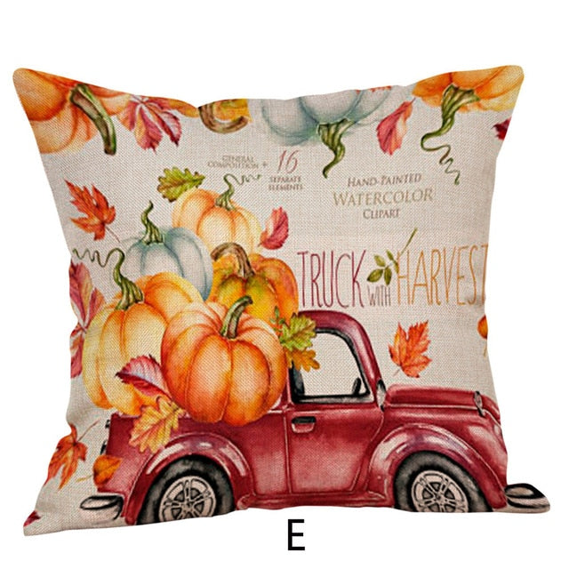 Happy Fall Y'all Throw Pillow Cover