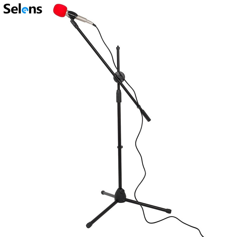 Selens Swing Boom Floor Metal Stand Adjustable Microphone  Holder Microphone stand For Vlog Video Vlogging Live Strea