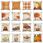 Seasonal Pillow Covers Pumpkin Truck