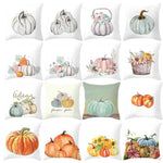Fall Halloween Pumpkin Pillow Case - Throw Cushion Cover Home Deco