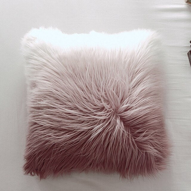 Fur Throw Pillow Cushion Cover