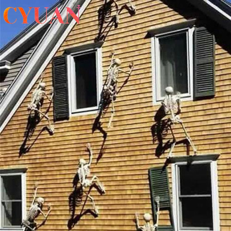 Scary Halloween Decoration Halloween Props Luminous Hanging Decoration Outdoor Party Horror Luminous Movable Skull Skeleton