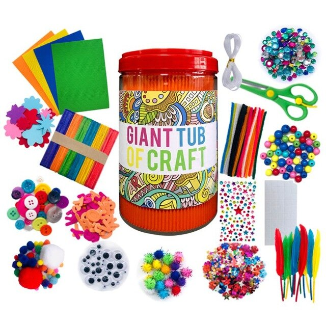 Arts and Crafts Supplies for Kids - Craft Art Supply Kit for Toddlers Age 4 5 6 7 8 9 - All in One D.I.Y. Crafting Colla