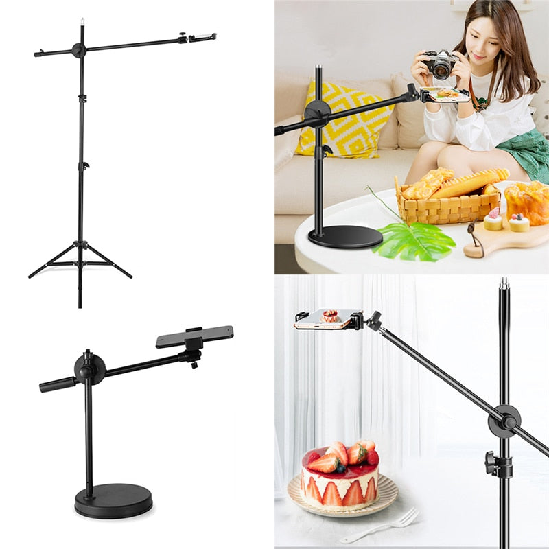 Flexible Table Tripod for Phone Holder Desktop Phone Shooting Bracket Stand Adjustable for Vlog Photo Video Cooking Shooting
