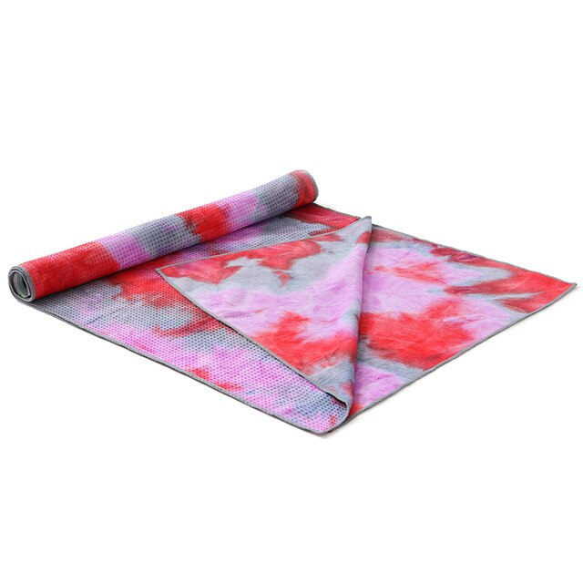 Quick Dry Non-Slip Foldable Yoga/Fitness Towel with Mesh Bag