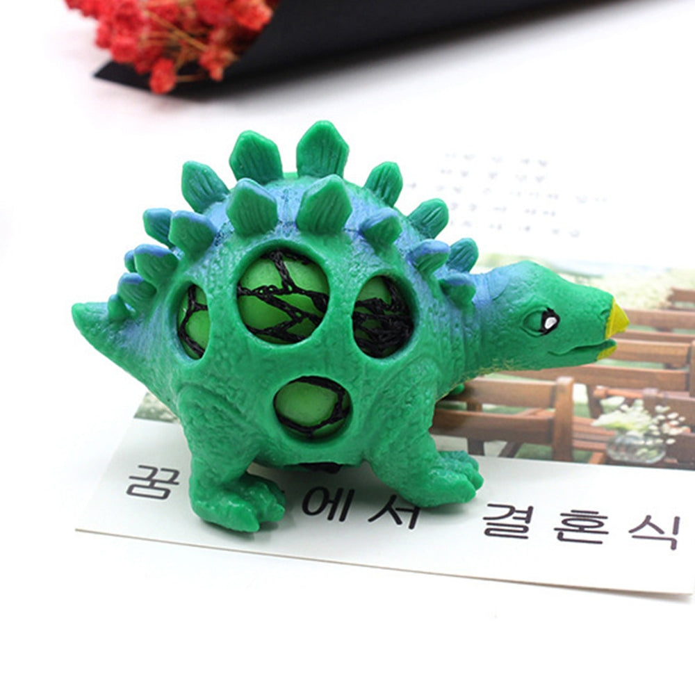 Random Dinosaur Kids Decompression Tool Gift Kill Time Adults Cute Fidget Sensory Stress Relief Mesh Squeeze Toys Grape Ball