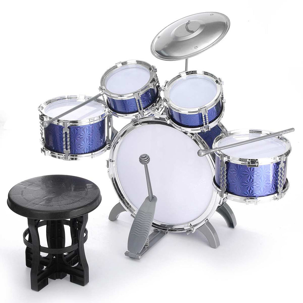 Children Kids Jazz Drum Set Junior Kit with Stool