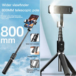 P70D Bluetooth Selfie Stick Tripod Fill light Video Record Support Universal Adjustable Direction Smartphone Stabilizer Vlog