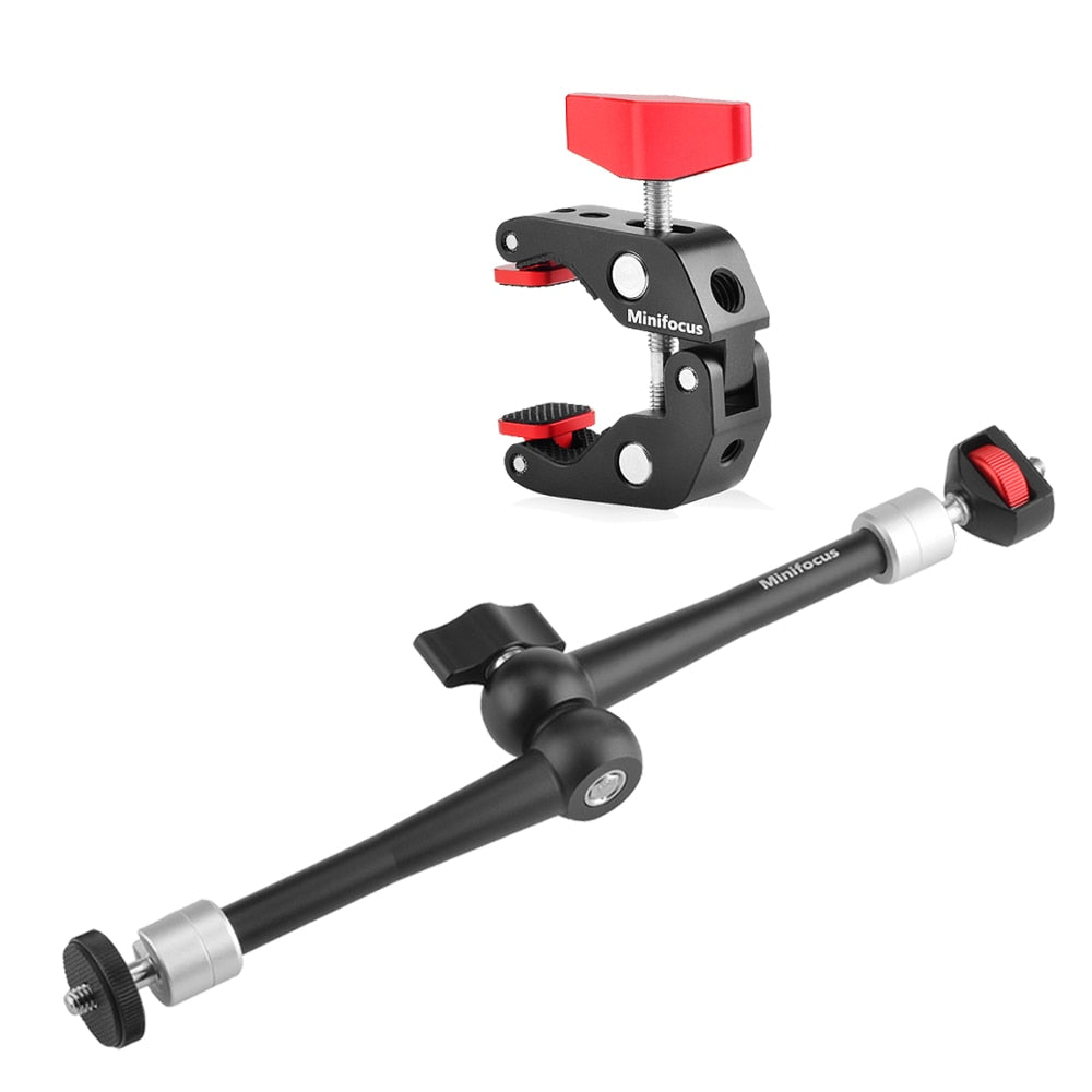 "11"" Adjustable Articulating Friction Magic Arm Clamp Holder Mount Kit for DSLR Mirrorless Action Camera Monitor Video Vlog Rig"