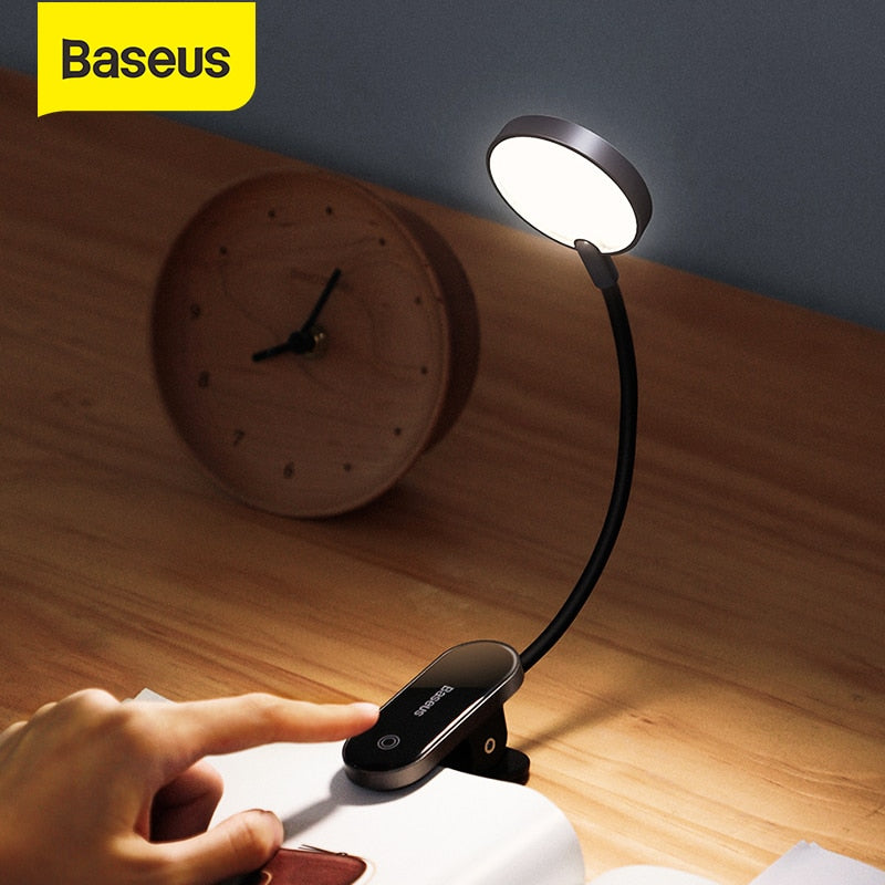 Mini USB Charge Clip-On Book Lamp