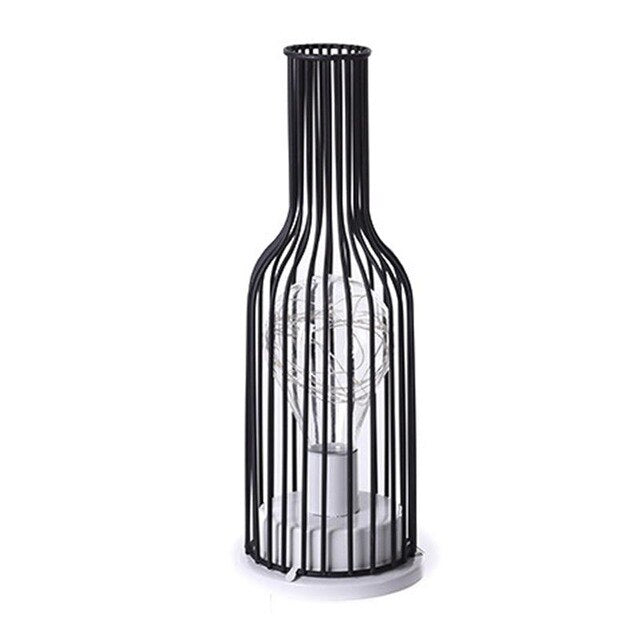 Hollow Out Wine Bottle Shape LED Lamp