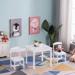 Children Table and Chair Set- White