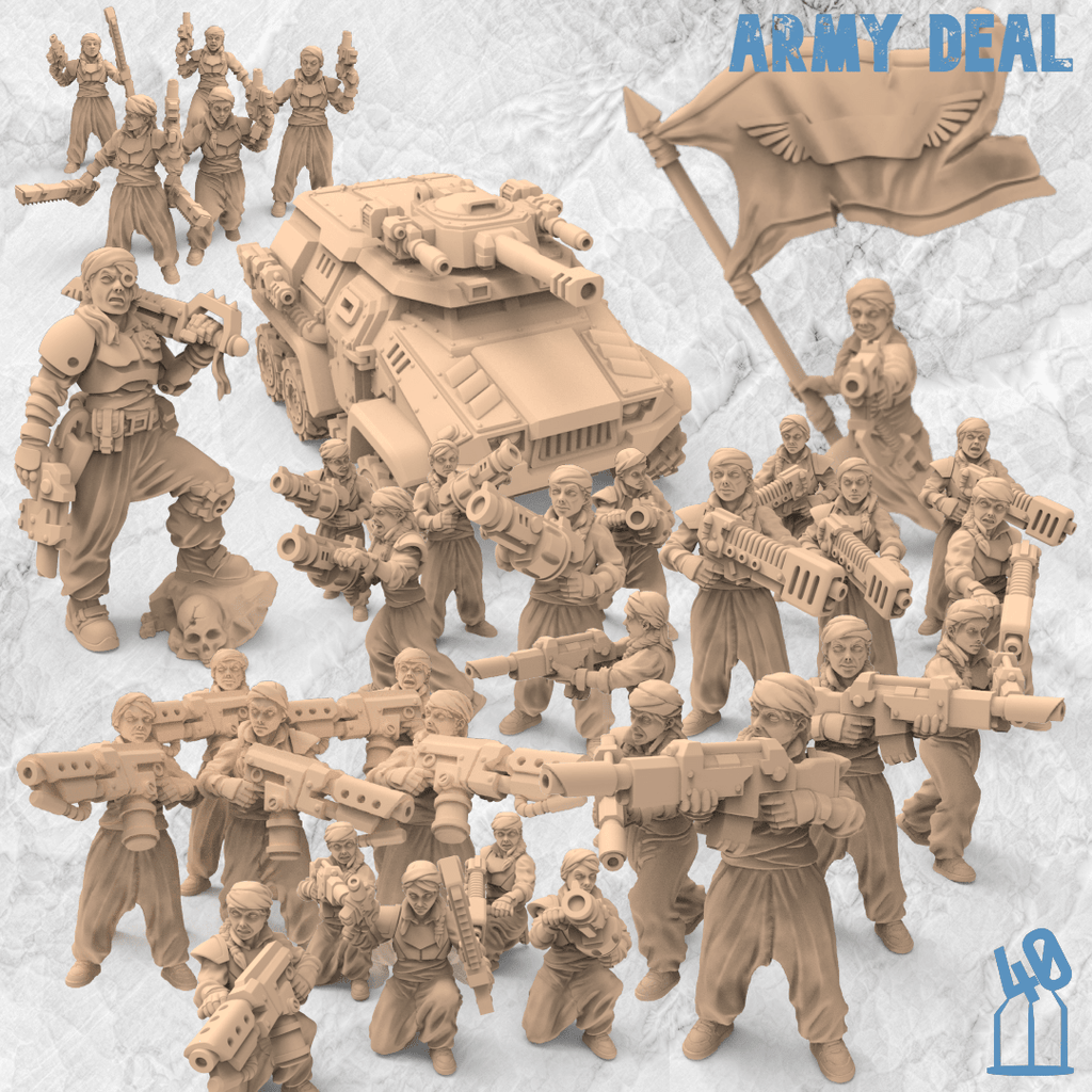 Azadi Death Front Female Guard Alternatives 40Emperor premium army deals