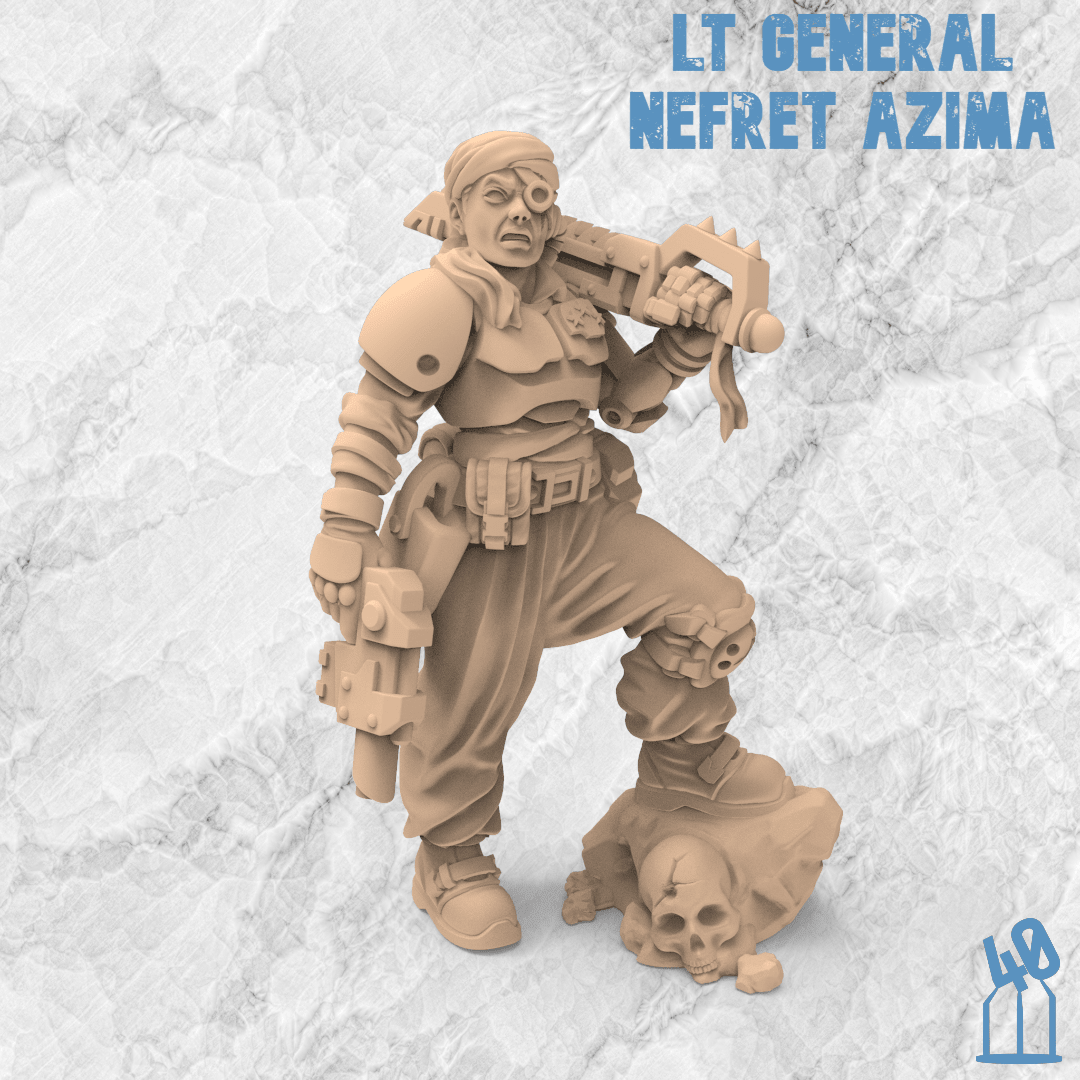 Nefret Azima - 3 Star General - STL for 3D printing