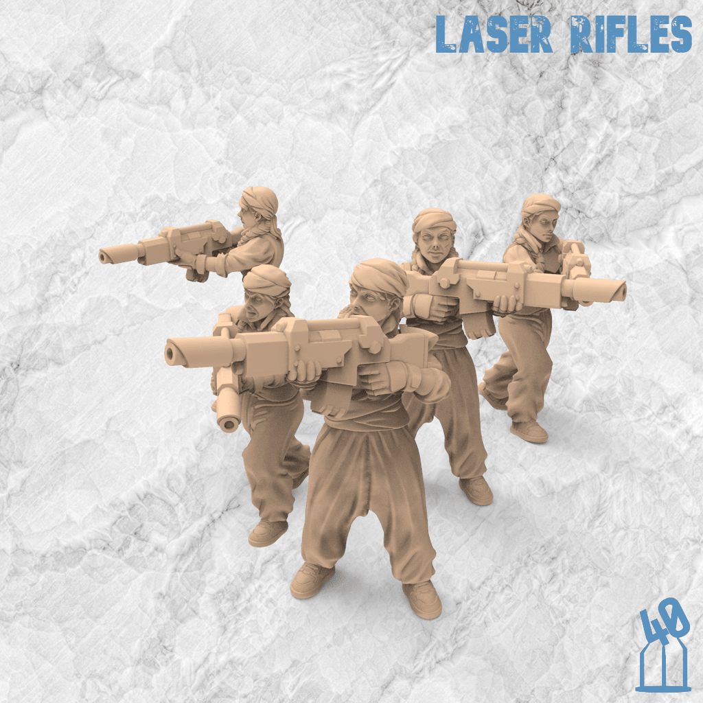 laser rifle troops alternative guard 3d printing female guard guardswomen miniature azadi death front 40emperor