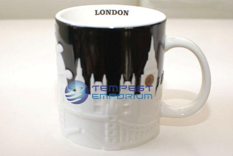 Starbucks-London-Black-&-White-Collectors-Relief-Mug--473-ml-/-16-fl-oz-New