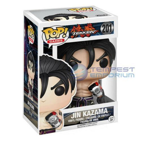 Jin-Kazama-Black-&-White-Figure-No.-201-Funko-Pop!-Tekken-Brand-New