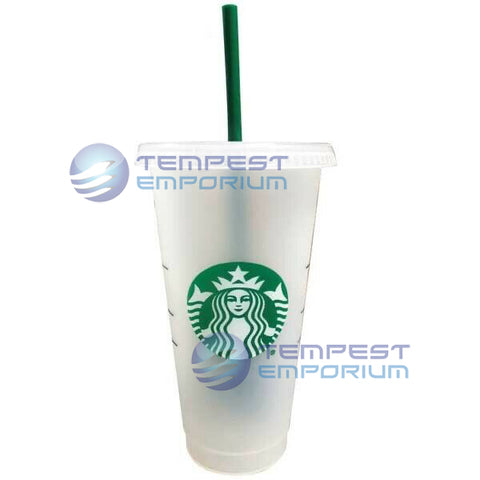 Starbucks Frosted Cold Cup Mug with Straw Venti 591 ml / 20 fl oz