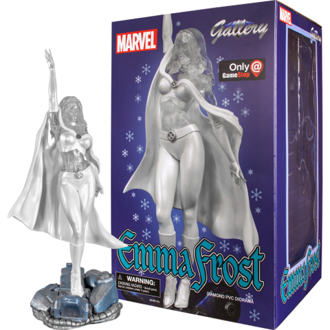 White Queen Emma Frost Marvel Comic Gallery PVC Statue GameStop Exclusive