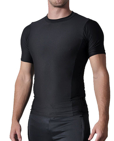Firstar - Full Compression Short Sleeve Top - Black