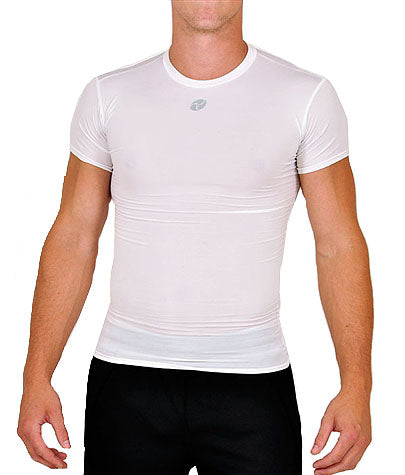 Firstar - Full Compression Short Sleeve Top - White