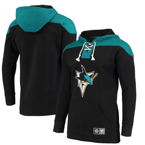 San Jose Sharks NHL Fanatics - Breakaway Lace-Up Pullover Hoodie