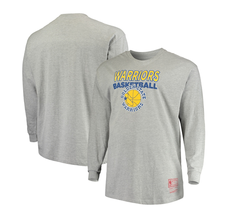 Golden State Warriors NBA Mitchell & Ness - Classics Thowback Logo Long Sleeve T-Shirt