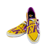 Los Angeles Lakers NBALAB -  1221 Canvas Slip On Shoe