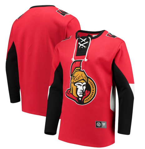 Ottawa Senators NHL Fanatics - Breakaway Lace-Up Pullover Hoodie