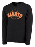 San Francisco Giants MLB Majestic - Tri-Blend Long Sleeve T-Shirt