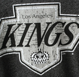 Los Angeles Kings NHL Majestic - Tri-Blend 3/4-Sleeve Raglan T-Shirt