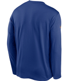 New York Giants NFL Nike - Sideline Playbook Performance Long Sleeve T-Shirt