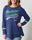 Vancouver Canucks NHL Fanatics - Women's Giant Dreams Speckle Long Sleeve Tee