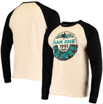 San Jose Sharks NHL Old Time Hockey - Spheric Long Sleeve Raglan T-Shirt