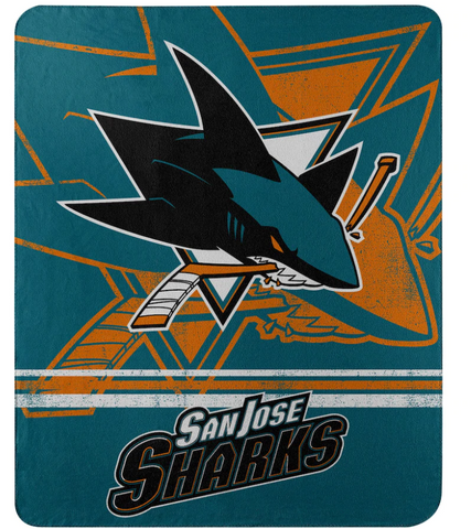 San Jose Sharks NHL Northwest Company - 50'' x 60'' Fleece Throw Blanket