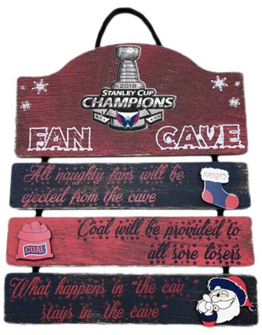 "Washington Capitals NHL - Stanley Cup Champions 6"" x 12"" Man Cave Sign"