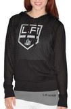 Los Angeles Kings NHL G-III Sports - Women's Kick Off Mesh Hoodie & Tank Top Set
