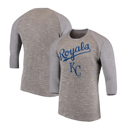 Kansas City Royals MLB Majestic Threads - French Terry 3/4-Sleeve T-Shirt