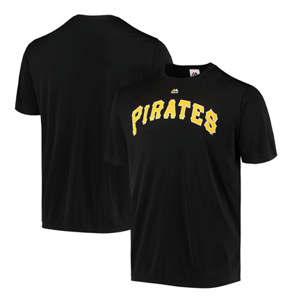 Pittsburgh Pirates MLB Majestic - Synthetic Team Logo T-Shirt