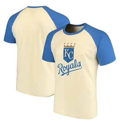 Kansas City Royals MLB Majestic Threads - Softhand Raglan T-Shirt