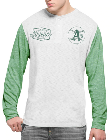 Oakland Athletics MLB '47 Brand - Henley Long Sleeve T-Shirt