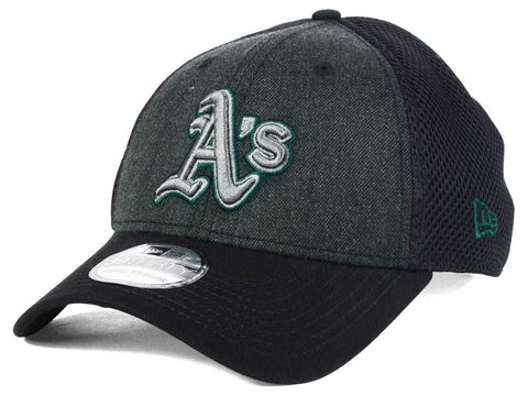 Oakland Athletics MLB New Era - Black Heathered Neo 39THIRTY Cap