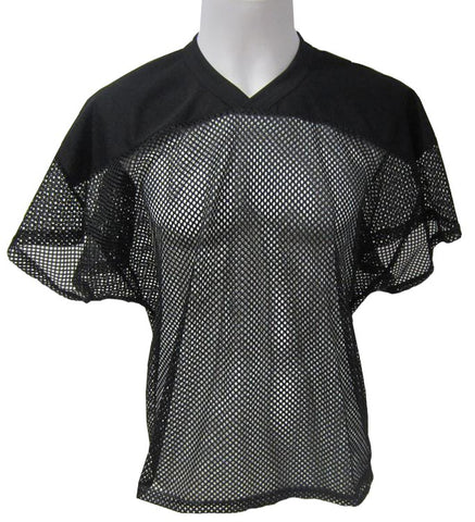 Athletic Knit - Open Mesh Football-Gridiron Jersey (Black)