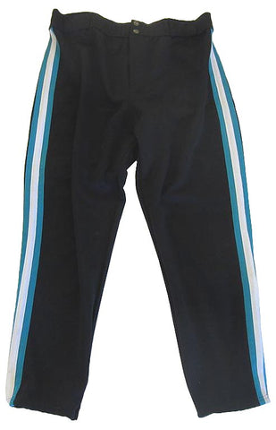 Athletic Knit – Double Knit Pro Baseball Pants (Black-Teal-White)