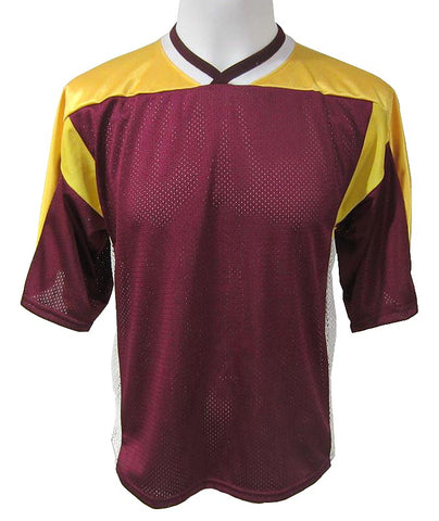 Athletic Knit Lacrosse Jersey - Maroon-Gold-White