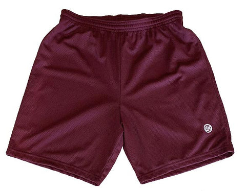 Athletic Knit Mesh - Multi-Purpose Sport Shorts (Maroon)