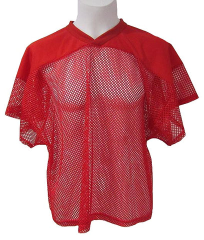 Athletic Knit - Open Mesh Football-Gridiron Jersey (Red)