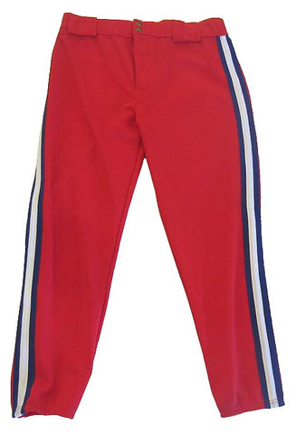 Athletic Knit – Double Knit Pro Baseball Pants (Red-Blue-White)