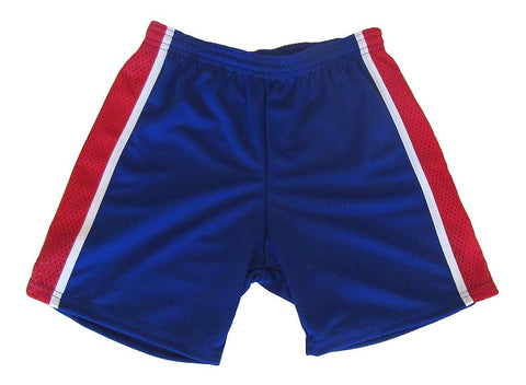 Athletic Knit – Tri Colour Multi-Purpose Sport Shorts (Royal)
