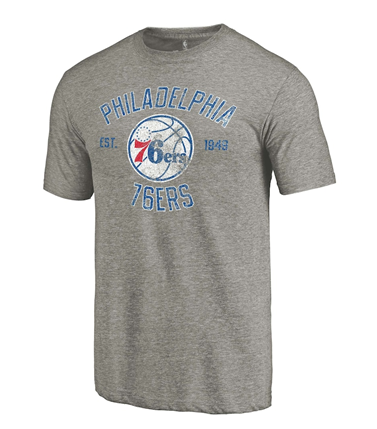 Philadelphia 76ers NBA Fanatics - Team Heritage Tri-Blend T-Shirt